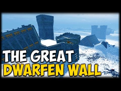 THE GREAT DWARFEN WALL! Total War: Warhammer - Create Your Own Battle Maps!