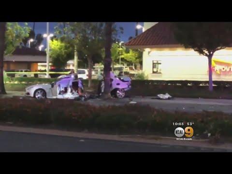 Maserati Cut In Half After Deadly Long Beach Crash