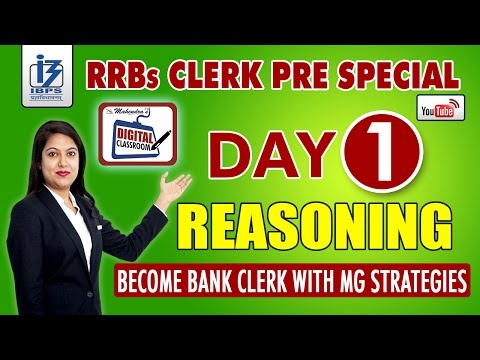 REASONING | IBPS RRBs CLERK PRE SPECIAL | DAY - 1 | #DIGITALCLASSROOM