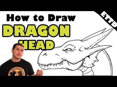 How To Draw A Dragon Head Easy Things To Draw