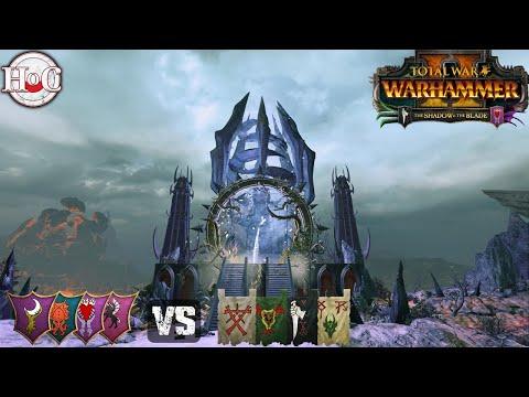 MASSIVE 4V4 SHADOW VS BLADE - Total War Warhammer 2 - Online Battle 417 |