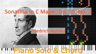 🎹Solo & Chord, Sonatina In C Major, Op. 55, No. 3, Friedrich Kuhlau, Synthesia Piano