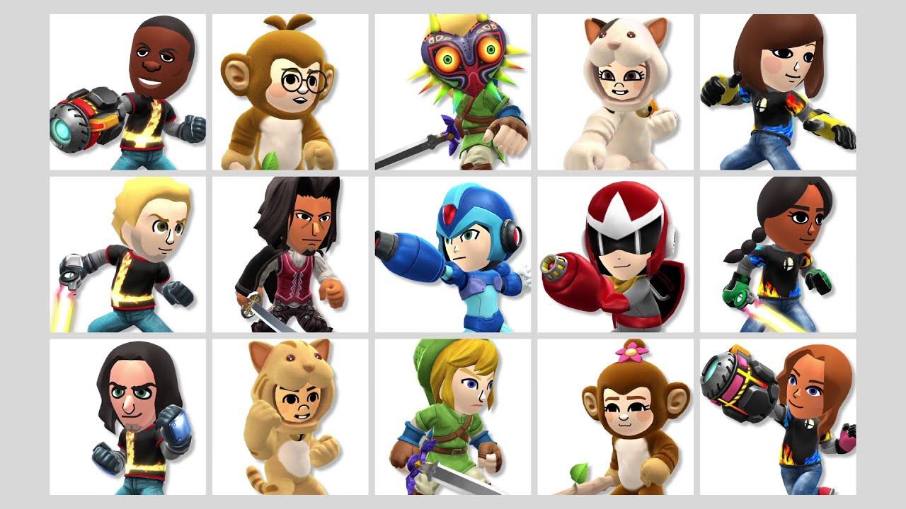 Smash Bros. for Nintendo 3DS / Wii U Mii Fighters Suit Up for Wave One - Smash Bros. for Nintendo 3DS / Wii U Mii Fighters Suit Up for Wave One