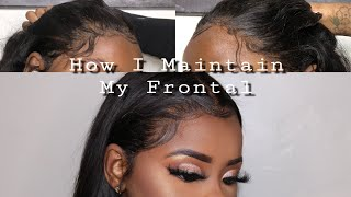 How I Maintain My Frontal | Cleaning, Baby Hairs & Overnight Care