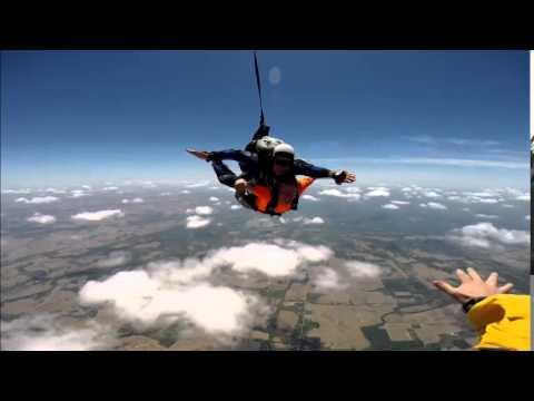 David Ennis with Indian Creek Intermediate School skydives!