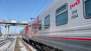 러시아 ЭП1형 기관차 견인 시베리아횡단열차 우수리스크…