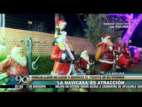 La molina mira la espectacular decoraci n navide a de una - Decoracion navidena de casas ...