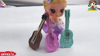 How to DIY Miniature Guitars for dolls| Cách Làm Đàn Ghi Ta Cho Búp Bê