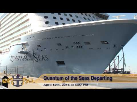 Quantum of the Seas: Bayonne Departure on April 12, 2015