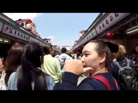 "Asakusa temple or ""Sensoji"" at Tokyo, Japan in Golden Week 2016 [HD]"