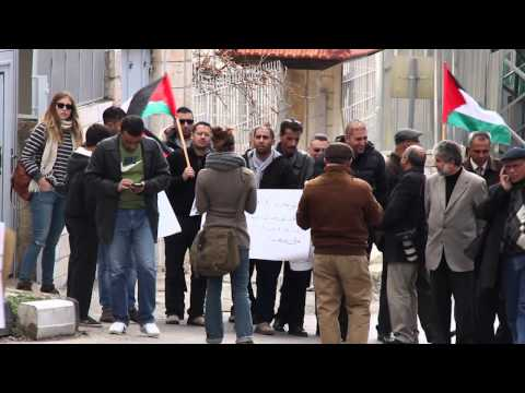 March to Protest the Targeting of Palestinian Journalists by the IOF