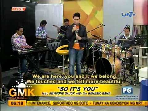 """""""So It's You"""" (feat. Reymond Sajor and Generic Band)"""