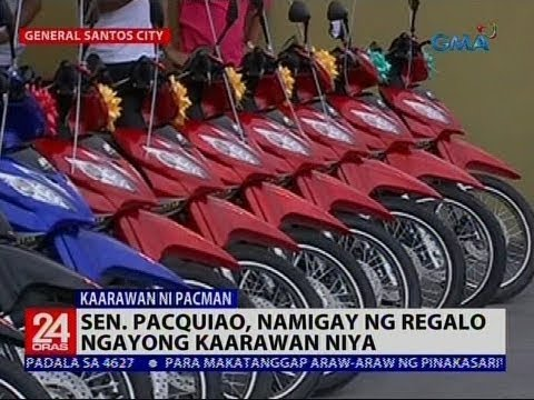 Sen. Pacquiao, namigay ng regalo ngayong kaarawan niya