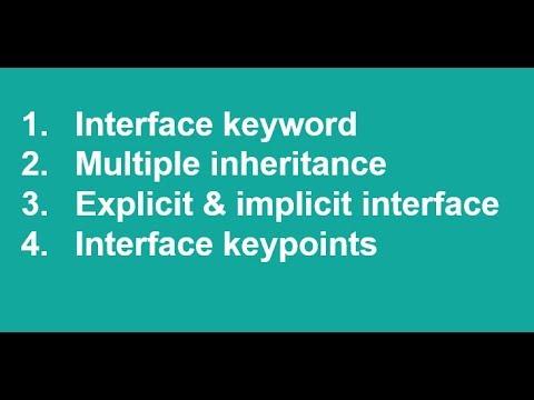 C# Urdu/Hindi Interface Multiple inheritance explicit method Lecture15