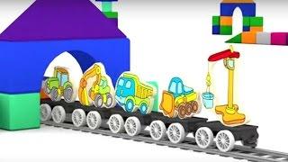Lehrreicher Zeichentrickfilm - Die 4 kleinen Autos - Puzzle mit Fahrzeugen