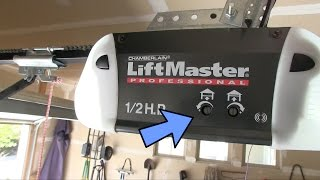 garage door won t stay closed or opens too far limit force adjustment liftmaster
