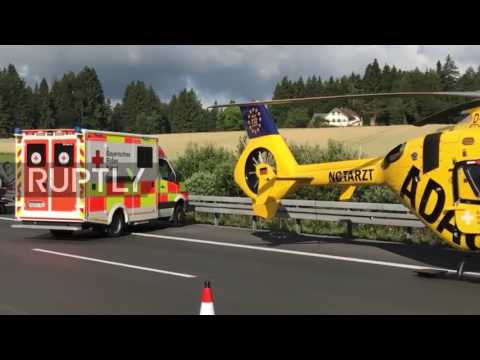 Germany: 17 feared dead following bus accident on A9 motorway in Bavaria