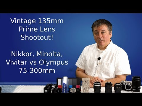 Vintage 135mm Lens Shootout on Micro 4/3 Pen-F ep.17