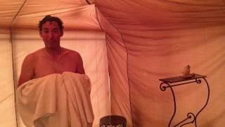 The shower - Erg Chigaga Luxury Desert Camp Morocco