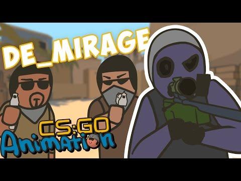 CS ANIMATION: DE_MIRAGE (COUNTER-STRIKE PARODY)