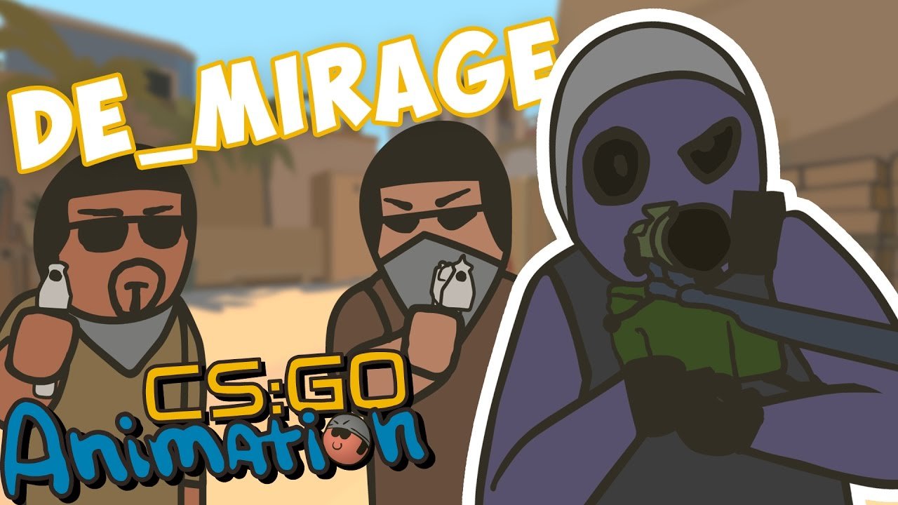 CS ANIMATION: DE_MIRAGE (COUNTER-STRIKE PARODY)