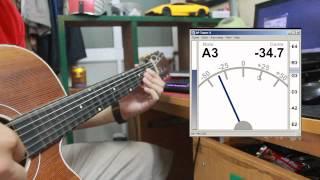 Sử dụng phần mềm APTuner để chỉnh dây đàn guitar