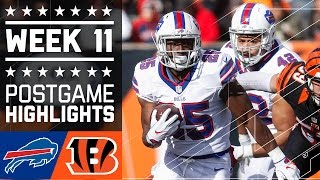 Bills vs. Bengals | NFL Week 11 Game Highlights