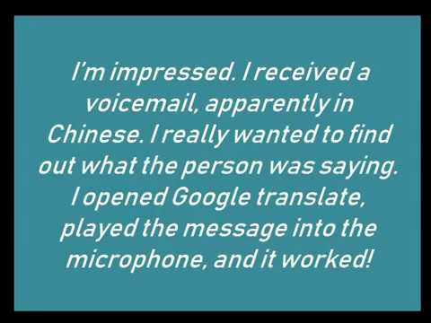 Chinese Voicemail Translated