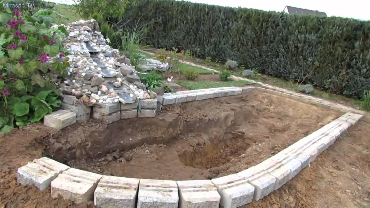 Koiteich Anlegen Gartenteich Selber Bauen Video 1 - Youtube
