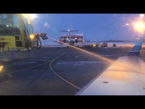 Вылет из Уфы.03.03.2018. Take off from Ufa. Bombardier CRJ-200