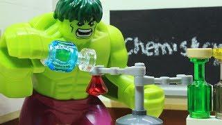 Lego Hulk School Superhero Stop Motion - Chemistry Class