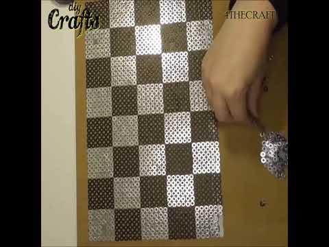 Epoxy Resin & Wood RGB LED Light Chess Board