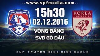 than quang ninh vs sinh vien han quoc - btv cup 2016  full