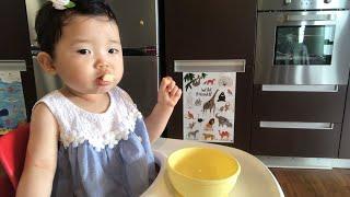 [오늘도육아중] 12개월 아기 사과 먹방 | Sunny…