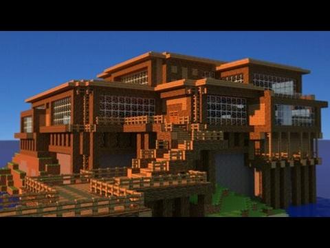 O super casa din lemn minecraft creative youtube for Casa minimalista 90m2