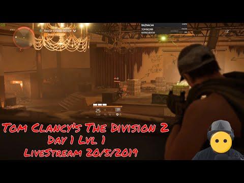 🔫 Tom Clancy's The Division 2 - Day 1 LvL 1 - Ft Raznac - LiveStream 20/5/2019 🎥