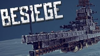 BATTLESHIPS AND BOATS - Besiege Alpha Sandbox