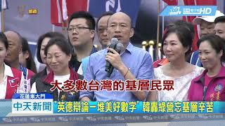 20190608中天新聞 花蓮誓師擠爆15萬人 韓正式表態登記國民黨初選