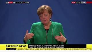 'Did you learn anything new today?' Angela Merkel SMIRKS after this Brexit question