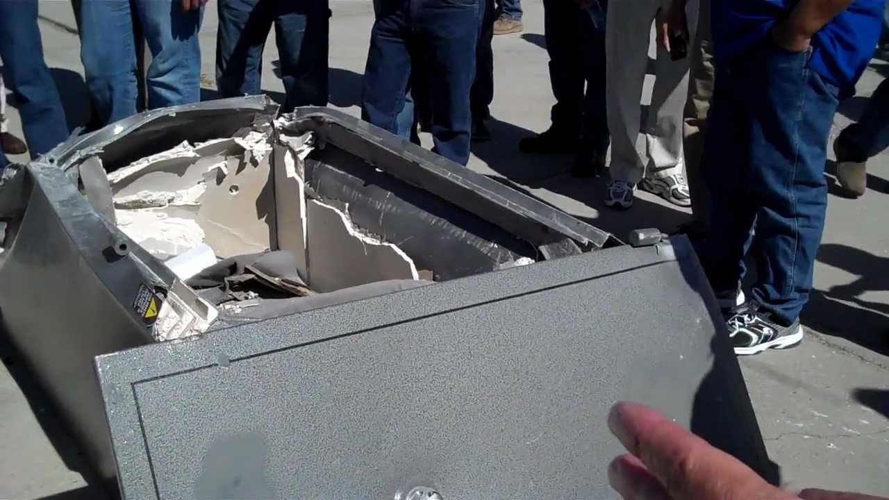 Gun Safe from Box Store vs  USA built 100 foot drop test
