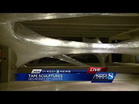 'Sticky' interactive art piece takes over Des Moines Art Center