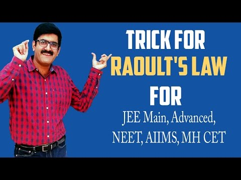 Trick For Raoult's Law For JEE Main, JEE Advanced, AIIMS, MH CET By Er Dushyant Kumar