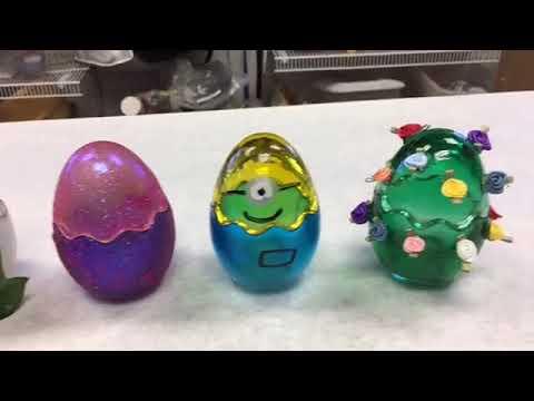 Making Easter Egg Votive Candles