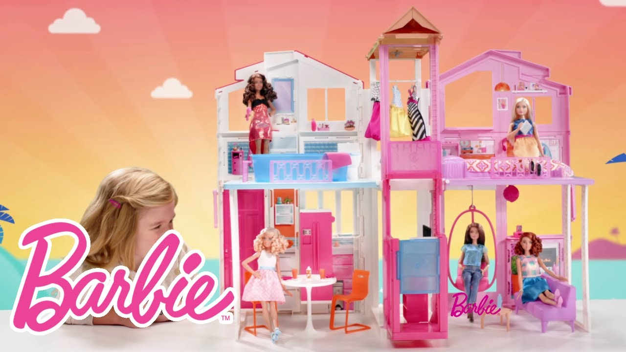 barbie 3 story townhouse barbie youtube. Black Bedroom Furniture Sets. Home Design Ideas