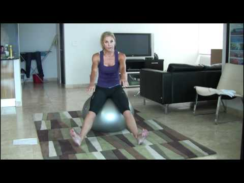 6 Basic Exercise Ball Stretches