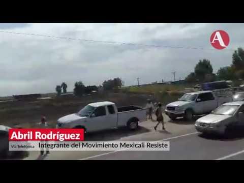 Reprimen manifestación por megaobra en Mexicali