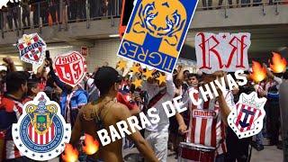 CHIVAS VS TIGRES 0-0 SALIDA DE IRREVERENTE, REJA Y LEGIÓN-BARRAS DE CHIVAS