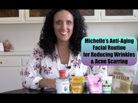 michelle's-anti-aging-facial-beauty-routine-to-reduce-wrinkles-&-acne-scarring