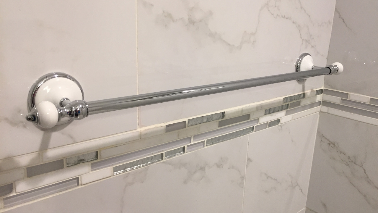 Install A Towel Bar On A Porcelain Tile Wall Youtube