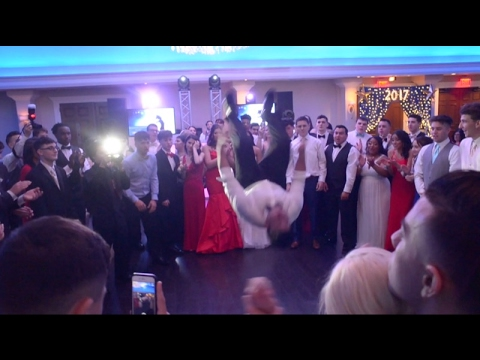 Dancing at the Moore Catholic High School 2017 Prom